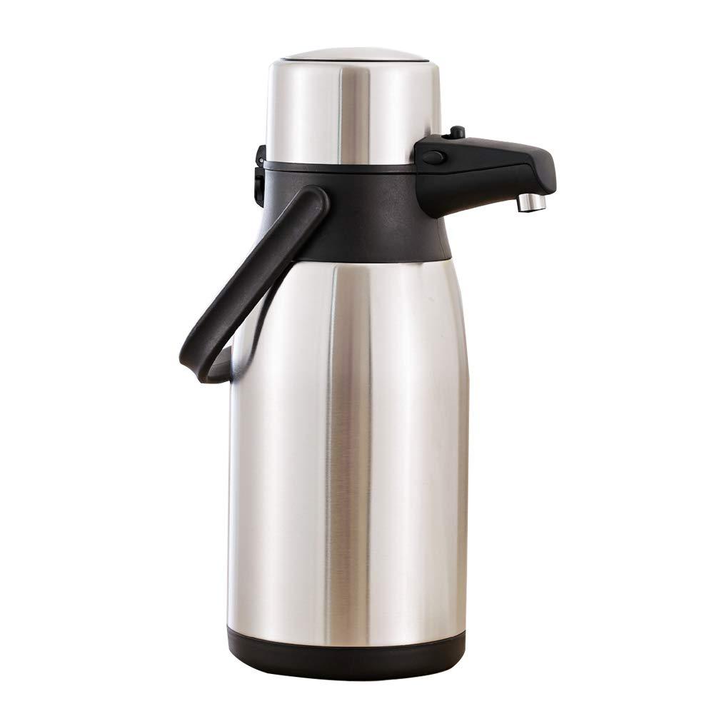 【人気商品!】 3リットルステンレスプッシュ式保温鍋、空気圧保温瓶、真空断熱壁、ポンプ   B07QQPDS2M, 水地net. 3430f8c3