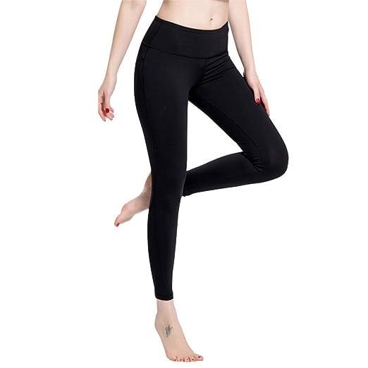 f847b01069b72 Amazon.com: JOKIHA Women Yoga High-Waist Tummy Control Pants Power Flex Workout  Running Leggings with Inner Pocket,Black,Small: Clothing