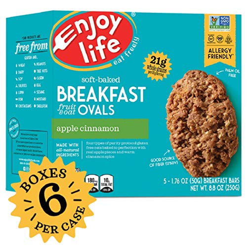 Enjoy Life Gluten Free Nut Free & Vegan Breakfast Cookies, Apple Cinnamon, 6 Count