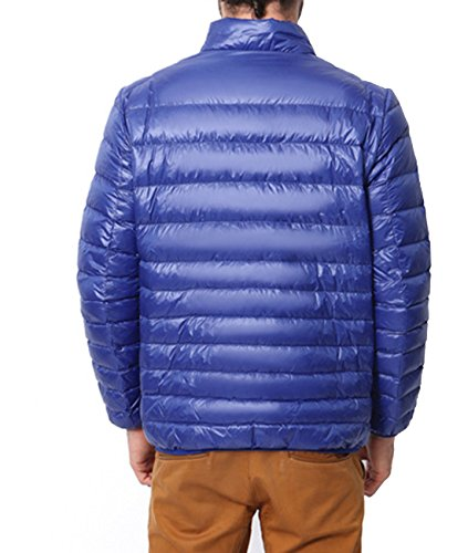 Fashion Qualifizierte leichte Ente Daunenjacke Mantel für Männer Large Blau