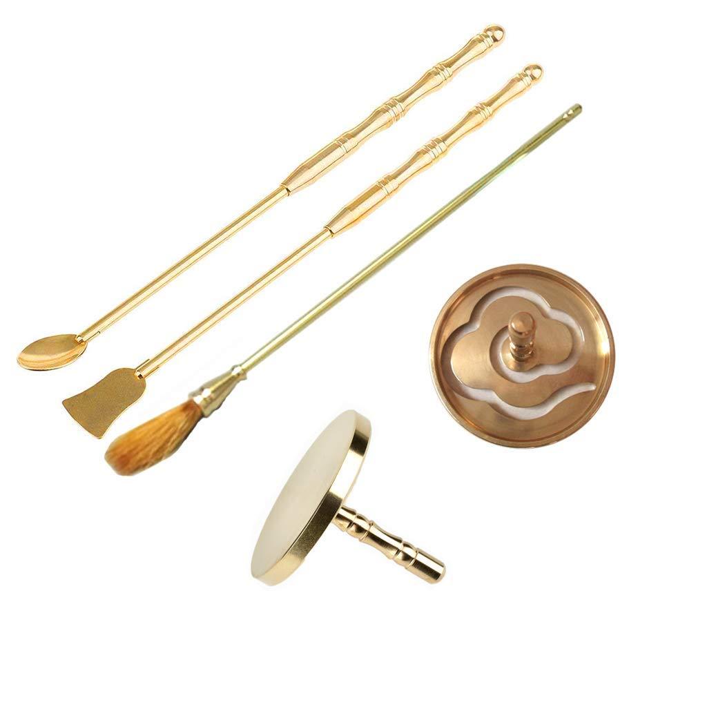 sleeri Incense Making Kit, Incense Mold Tool Kit Set - DIY Incense - 5PCs/Set Cloud Shape Incense Mold, Incense Spoon, Incense Press, Incense Shovel, Incense Brush for Yoga Meditation by sleeri