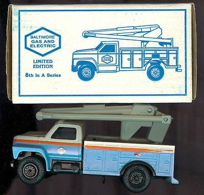 1993 Ertl Baltimore Gas and Electric BG&E Utility Bucket Truck Die-Cast 3814 - Sports Memorabilia (Utility Trucks Bucket)