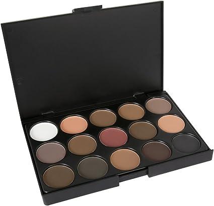 LaRoc 15 Colores Paleta Sombra de Ojos Kit de maquillaje de Make Up Box Profesional - Tonos cálidos: Amazon.es: Belleza