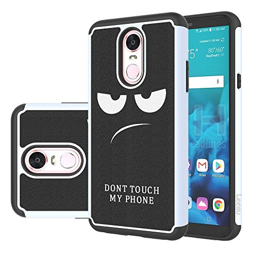 LG Stylo 4 Case, LG Q Stylus Case, LG Stylo 4 Plus Case, LEEGU [Shock Absorption] Dual Layer Heavy Duty Protective Silicone Plastic Cover Rugged Phone Cases for LG Stylo 4 - Dont Touch My Phone