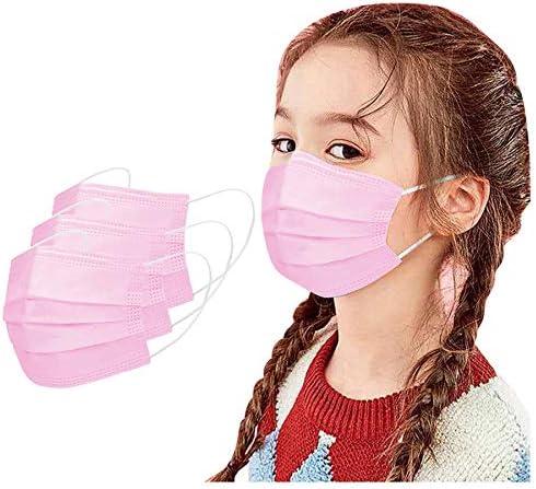 100 50pcs 3-ply Kids Mouth Face Protecive Gear, Dinosaur Printed Bandanas Cute Accesory Unisex Disposable 50Pcs, Kids – Pink