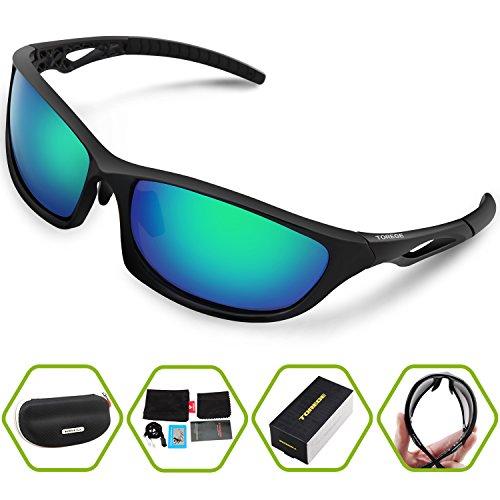 Torege Outdoor Sunglasses- Polarized Lenses- For Men & Women Eyewea- Lightweight, Stylish & Comfortable Running Glasses-TR010