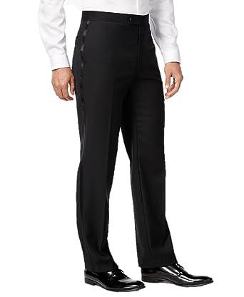 966028e9209 Elaine Karen Premium Tuxedo Pants for Men- Flat Front - Comfort Fit  Expandable Waist -