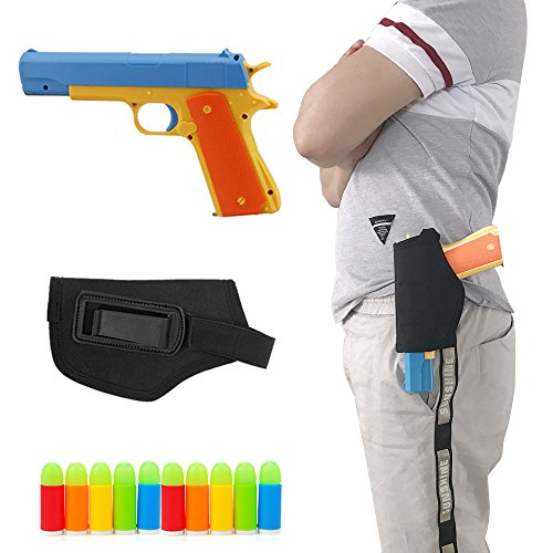 - Rivoean Classic Foam Play Toy Gun Colt 1911 Toy Gun With Tactical Holster and Colorful Soft Bullets,Real Dimensions,Fun Outdoor Game(blue)