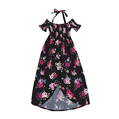 Joint 2018 Summer Family Clothes, Fashion Mommy and Daughter Matching Dress Floral Off Shoulder Strap Sundress
