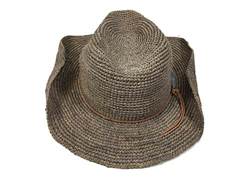 Hat Attack Taupe Stone Bead Cowgirl Hat by Hat Attack