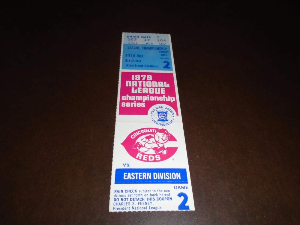 1979 PITTSBURGH PIRATES AT CINCINNATI REDS GAME 2 NLCS TICKET STUB