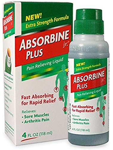 Absorbine Jr Plus Pain Relieving Liquid - New Extra Strength Formula - 4 Fl Oz (Pack of 2)