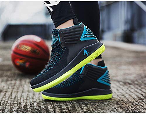 YAXUAN - Zapatos de Baloncesto Transpirables para Hombre ...