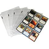 BCW (25) Trading Card 3-Ring Binder Pages - Holds 9 Cards - Clear Brand