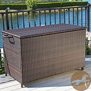 Christopher Knight Small Brown Wicker Cushion Box Great Addition To Any  Deck Or Patio