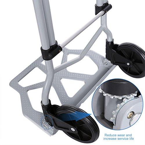 Coocheer Aluminum Folding Portable Luggage Cart Lightweight Travel Hand Truck/Heavy Duty Hand Trucks (220LB)
