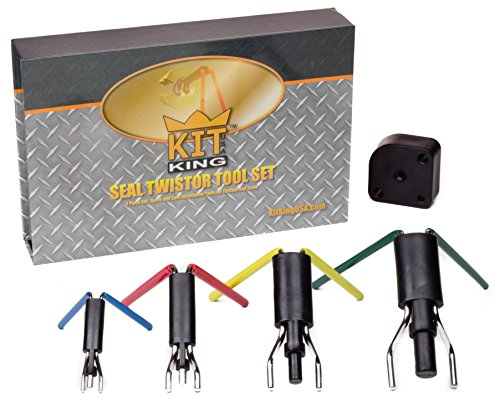 Kit King - Rod Seal Install Tool Set - 5 Piece Hydraulic U-Cup Twistor Installation Tool Set - Hydraulic Cylinder Seals