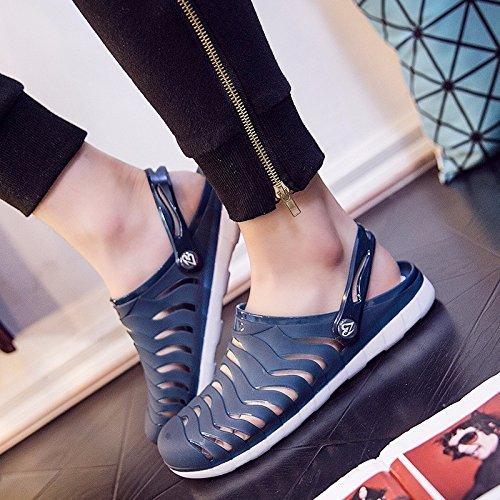estate Spiaggia Buco scarpa Uomini scarpa Tempo libero sandali Uomini tendenza scarpa ,blu,US=8.5,UK=8,EU=42,CN=43