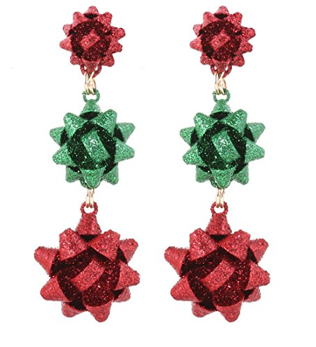 VK Accessories 3 Pairs Christmas Earring Different Styles