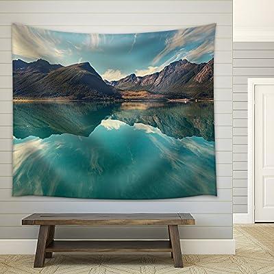 Svartisen Glacier in Norway Fabric Wall Medium