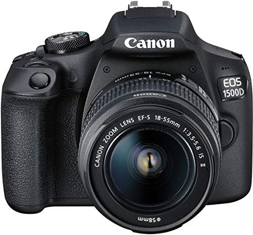 Canon EOS 1500D 24.1 Digital SLR Camera (Black) with EF S18-55 is II Lens, 16GB Card and Carry Case 3