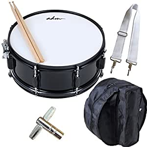 adm snare drum set with bag sticks and strap for beginners and students gloss. Black Bedroom Furniture Sets. Home Design Ideas