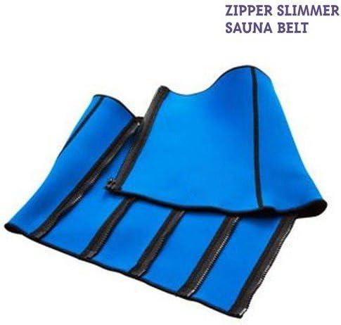 Unisex Adult Blue FitxSlim Zipper Slimmer Sauna Rider-Back One Size