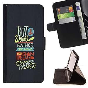 BullDog Case - FOR/HTC Desire 820 / - / but rather friends funky text grey feel /- Monedero de cuero de la PU Llevar cubierta de la caja con el ID Credit Card Slots Flip funda de cuer
