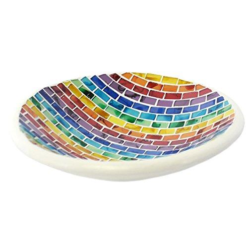 Details About Decorative Bowl Rainbow Mosaic Bowl Home Decor Platter Fruit Bowl Gift Mesmerizing Decorative Platters And Bowls