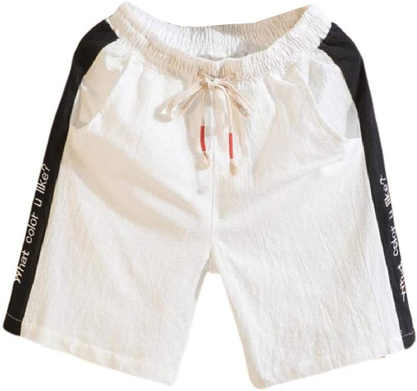Coolred Men's Plus Size Relaxed-Fit Casual Summer Linen Short Pants