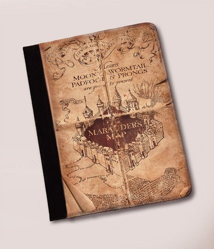 Harry Potter Marauders Map Leather iPad Case