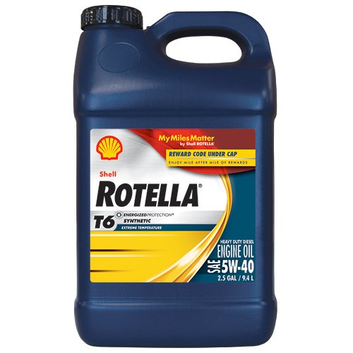 Shell rotella t6 full synthetic heavy duty engine oil 5w for Shell rotella t6 5w 40 diesel motor oil
