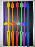 Premium Quality Color Silicone Bookmark - 6 Pack