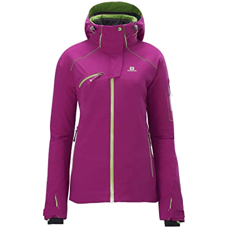 uk store good service cheaper Salomon Women's Ski Jacket brombeer/limette Size:XS: Amazon ...