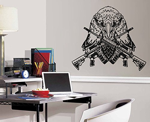 Cheap  ik740 Wall Decal US Army Eagle gun weapon bedroom bedroom living kids