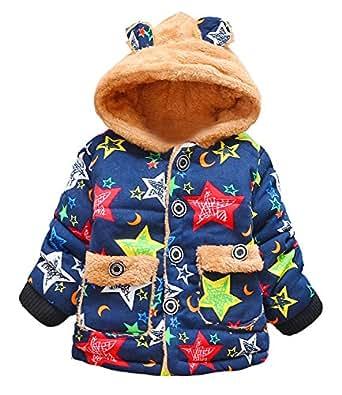 DDSOL Infant Baby Adorable Fleece Ears Hat Little Bear Hooded Jacket Coat