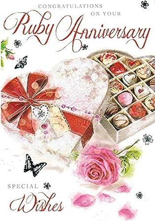 jonny javelin ruby wedding anniversary card amazon co uk electronics