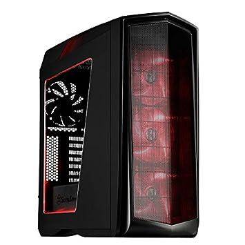 SilverStone SST-PM01BR-W - Carcasa de ordenador para juego Primera Midi Torre ATX, Rendimiento silencioso con alto flujo de aire, con ventana, LED ...