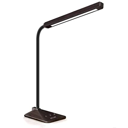 SOLLED LED Desk Lamp, 360 Degree Flexible Gooseneck Table Lamp (Wood Grain)  With 25 Adjustable Modes Eye Caring Dimmable Touch Lamp     Amazon.com