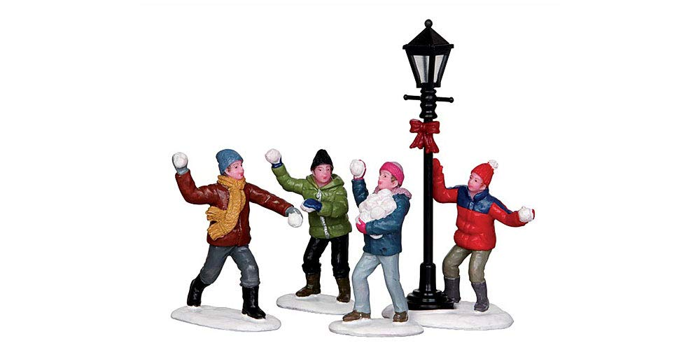 Lemax Village Collection Snowball Fight Set of 4 #32133