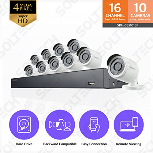 Samsung Wisenet SDH-C85101BF 16 Channel 4MP Super HD DVR Vid