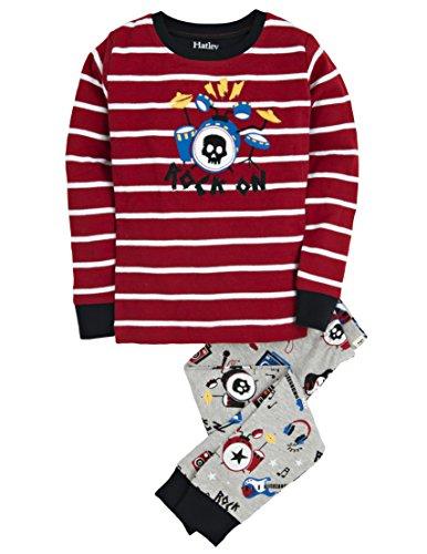 Hatley Little Boys' Pajama Set Applique Rock Band, Grey, (Band Pajama)