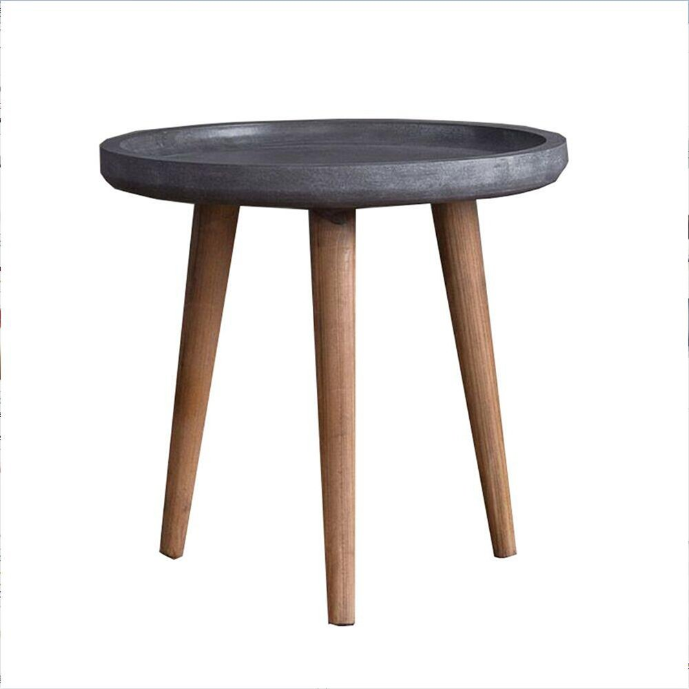 MS Tables US-Style Coffee Table Simple Living Room Round Wooden Table Balconies Mini Low Table Sid e Table Bed Head Tables Quality Wood Desk Leg Easy to Assemble @ by MS