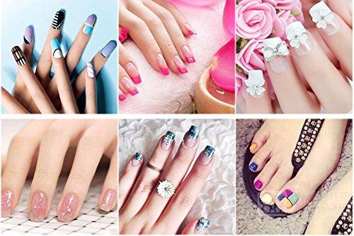 Nail Files & Nail Buffers Block 7 Professional Steps - Buffing Polishing Shining Your Fingernail & Toenail Tool Kit Sets - 6 Packs For A Healthier Nicer Shiny Natural Nail For Women by Freshline