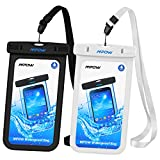 Mpow Universal Waterproof Case, IPX8 Waterproof Phone Pouch Dry Bag for iPhone X/8/8plus/7/7plus/6s/6/6s plus Samsung galaxy s8/s7 Google Pixel HTC10 (2-Pack)