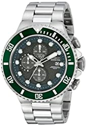 Invicta Men's 18908 Pro Diver Analog Display Japanese Quartz Silver Watch