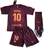 #4: HGVSoccer New #10 Messi 2017-2018 Barcelona FC 3rd Jersey Shorts & Socks For Kids and Youths