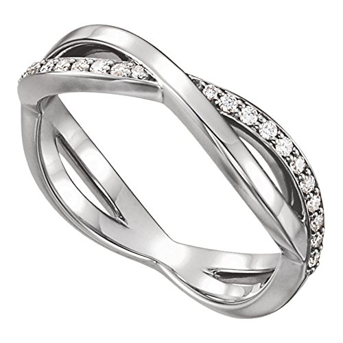 0.48 ct Ladies Round Cut Diamond Infinity Style Wedding Band in 18 kt White Gold
