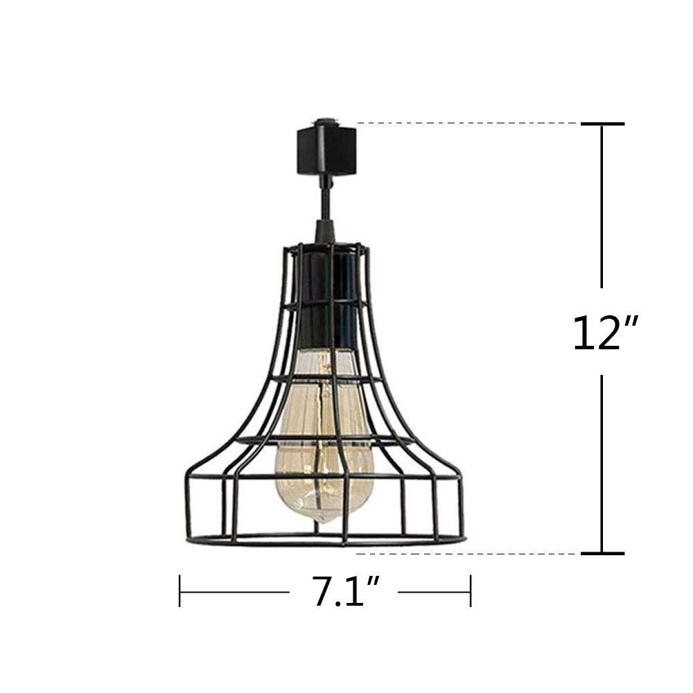 Industrial H-Type Track Pendant Lighting Commercial Track Lighting- Rustic Adjustable Industrial Track Light- Kitchen Track Lighting,Set of 3 by Kiven (Image #3)