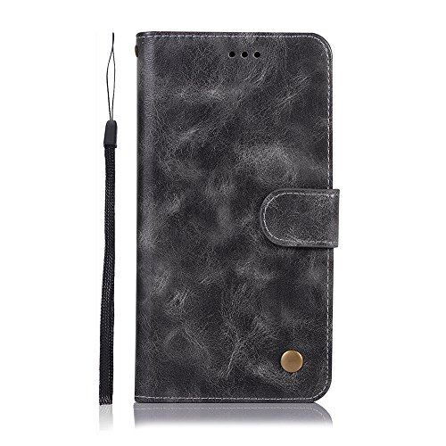 Xiaomi Redmi Note 5 - Cell Phone Cases Boys Wallet Style Flip Cover Case Compatible with Xiaomi Redmi Note 5 ONLY (Xiaomi Redmi Note 5 Cover Grey)